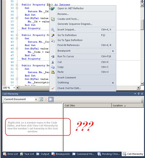 visual studio layout hierarchy view call hierarchy in visual studio stack overflow