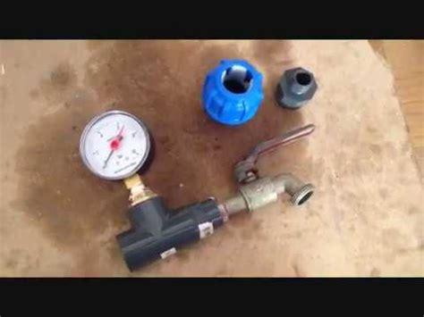 pressione acqua rubinetto come misurare la pressione dell acqua