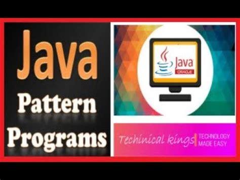 java pattern programs triangle java triangle pattern programs pattern 8 explained in