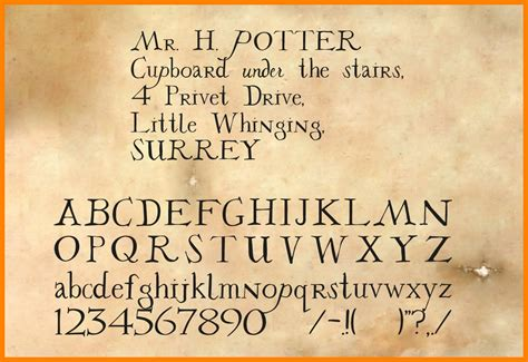 harry potter fonts 9 harry potter letter font applicationleter com