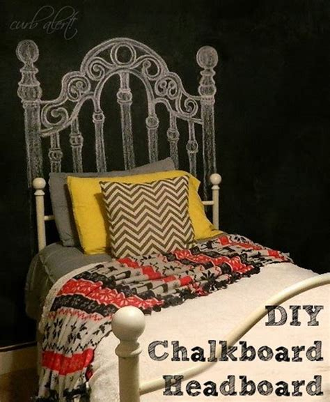 diy chalkboard headboard decorate your bedroom with these 25 diy headboards noted list