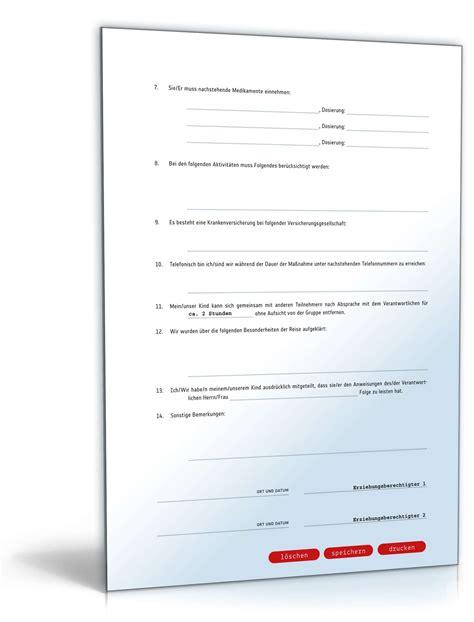 Musterbrief Zur R Ckforderung Der Kreditbearbeitungsgeb Hr einverst 228 ndniserkl 228 rung teilnahme vereins klassenfahrt