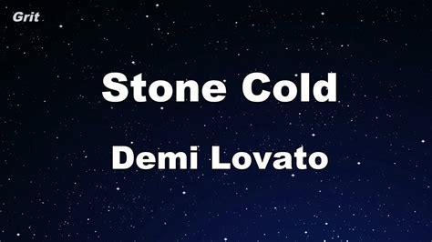 stone cold by demi lovato karaoke stone cold demi lovato karaoke no guide melody