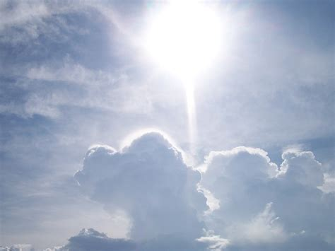 Bright White Light by Sun Light Sky Cloud Cloudy Bright White