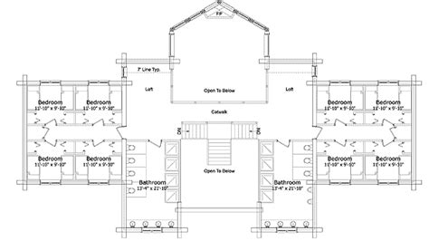 log lodge floor plans open spacious log lodge 1519du architectural designs