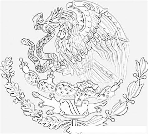 escudo bandera de mexico para colorear nocturnar dibujo del escudo de mexico para colorear colorear
