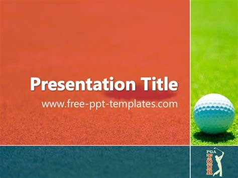 Pga Tour Ppt Template Golf Powerpoint Template