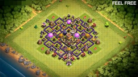 best defense town hall level 8 2016 town hall 8 best bomb tower hybrid base ever 2016 th8