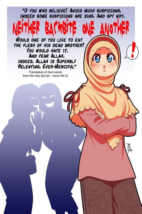 backbite   nayzak  deviantart anime muslim