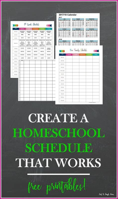 create  homeschool schedule  works   simple home