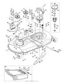 troy bilt 13wx79kt066 2010 parts diagram for mower deck