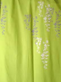 Non Toxic Shower Curtain Lime Green Curtain With Wisteria Print By Appetitehome On Etsy
