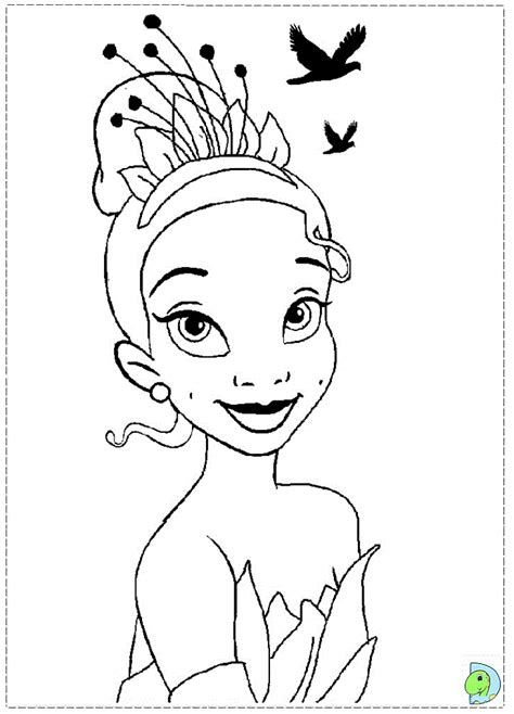 The Princess And The Frog Coloring Page Dinokids Org Princess Drawing Free Coloring Sheets