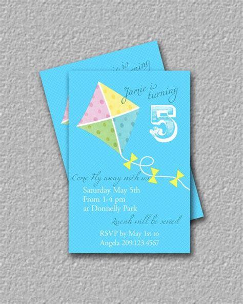 printable kite invitations 17 best images about kite hot air balloon pinwheel