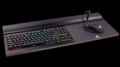 Portable Lap Desk With Storage Corsair S All In One Keyboard And Mouse Pad Brings Pc