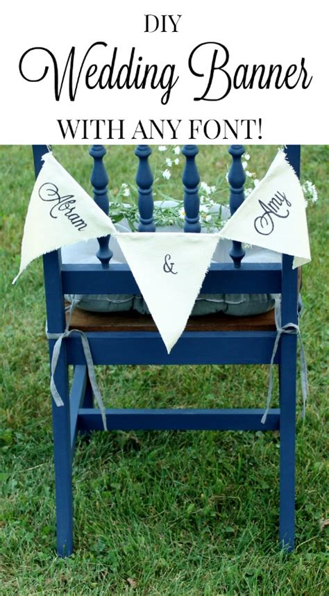Make Wedding Banner by How To Make Custom Canvas Wedding Banners Knick Of Time