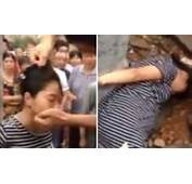 Video Chinese Villagers Beat Young Pregnant Woman Tied To