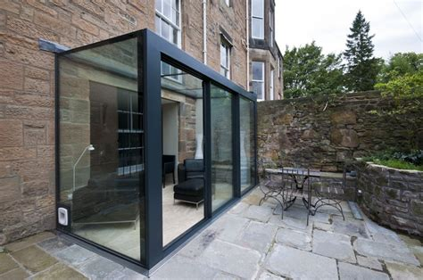 The Livingroom Glasgow sky frame residential glass extension gray amp dick ltd