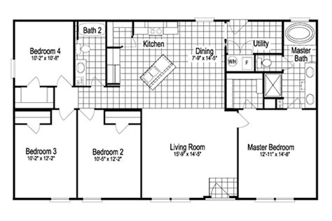 2 Bedroom 1 Bath Mobile Home Floor Plans by 30x50 Floor Plans Copyright 2014 Palm Harbor Homes All