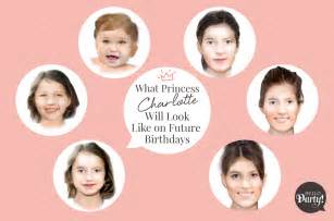 What princess charlotte will look like on future birthdays
