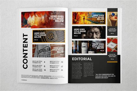 free indesign template magazine brochure indesign templates on behance