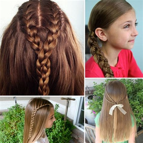 cool easy hairstyles for girls with long braids for