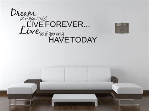 dream live girls teen bedroom vinyl wall quote art decal