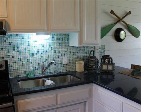 sea glass tile backsplash ideas 50 best images about white and blue kitchen on tropical kitchen islands and modern