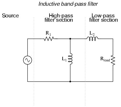 band pass filter using inductor and capacitor lessons in electric circuits volume ii ac chapter 8