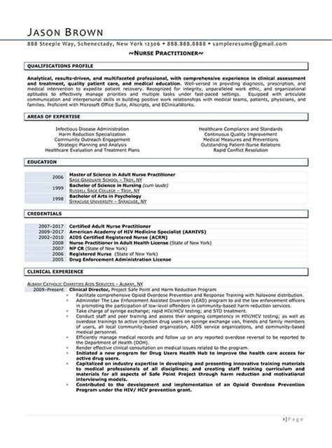 Practitioner Resume Profile Resume Exles Resume Professional Writers
