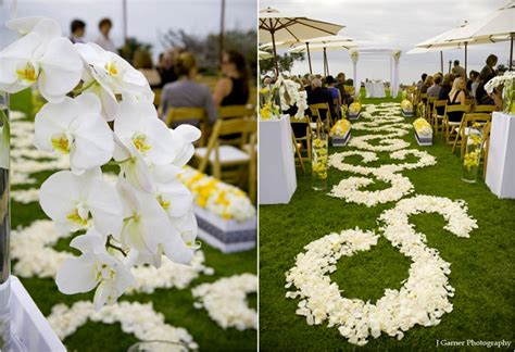 Wedding Aisle Flower Petal Designs by Diy Aisle Runner Inspiration The Crafty Esquire