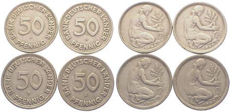 50 pfennig bank deutscher länder 1949 f 50 pfennig 1949 d f g j bundesrepublik deutschland