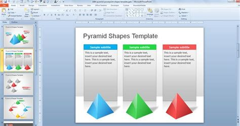 Free Pyramid Powerpoint Shapes Template Using Microsoft Powerpoint Templates