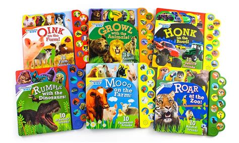 Sound Board Book With 6 Sound by Discovery Sound Board Books Groupon Goods