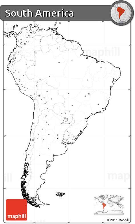 america map no labels free blank simple map of south america no labels