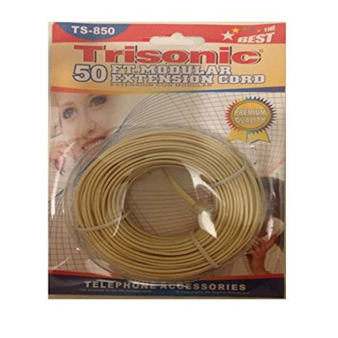 Microwave Trisonic trisonic 25 telephone phone extension cord cable line