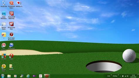 windows background themes golf amateur golfer windows 7 golf theme