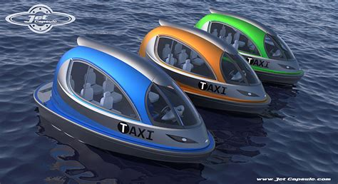 new water boats jet capsule water boats proposes private taxi versions