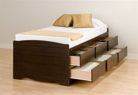 platform beds with storage drawers prepac fremont espresso tall twin mates platform storage