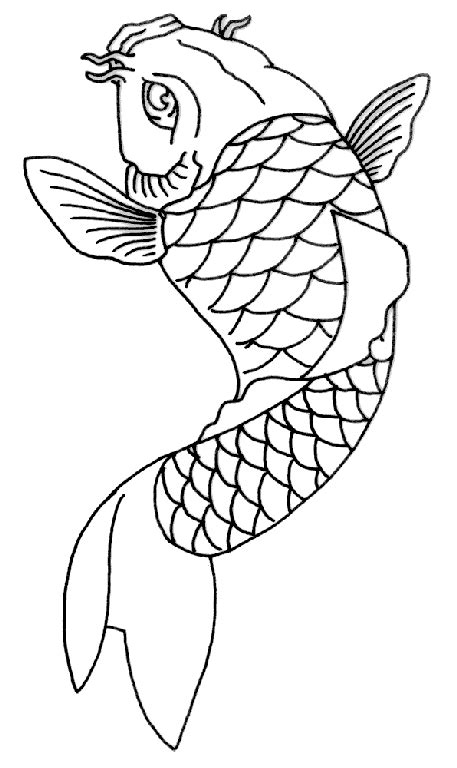 Two Koi Fish Outline by Koi Fish Outline Pencil And In Color Koi Fish Outline
