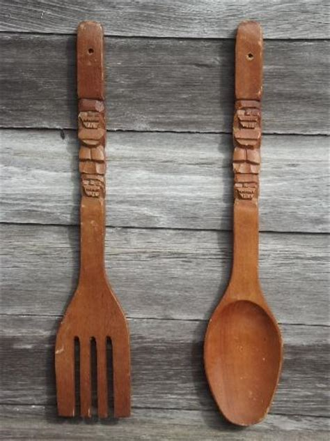 large wooden spoon and fork wall decor wall decals 2017