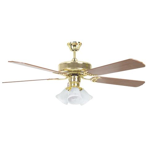 polished brass ceiling fans concord fans heritage home series 52 in indoor polished