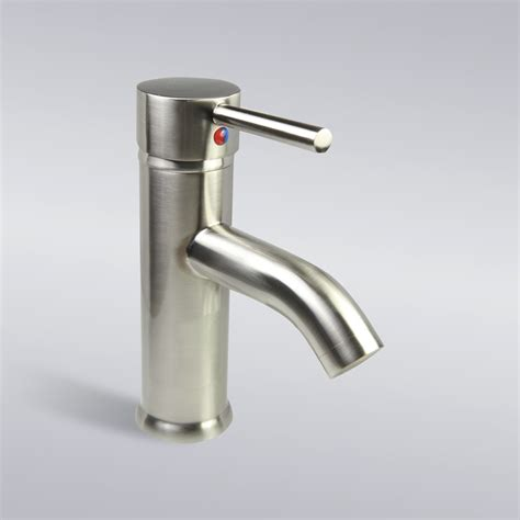 single hole bathroom faucet brushed nickel brushed nickel bathroom lavatory vessel single hole