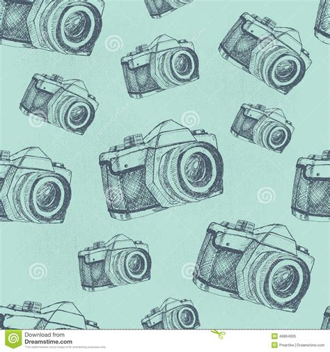 pattern background camera seamless camera pattern stock vector image 49864905