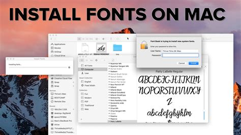 dafont on mac how to install fonts on a mac and make them available to