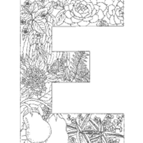 coloring pages for adults letter e adult d colouring pages