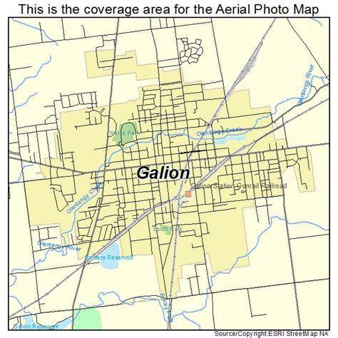 galion ohio map aerial photography map of galion oh ohio