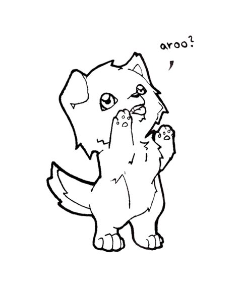 chibi dog coloring page chibi wolfie by xeohelios on deviantart