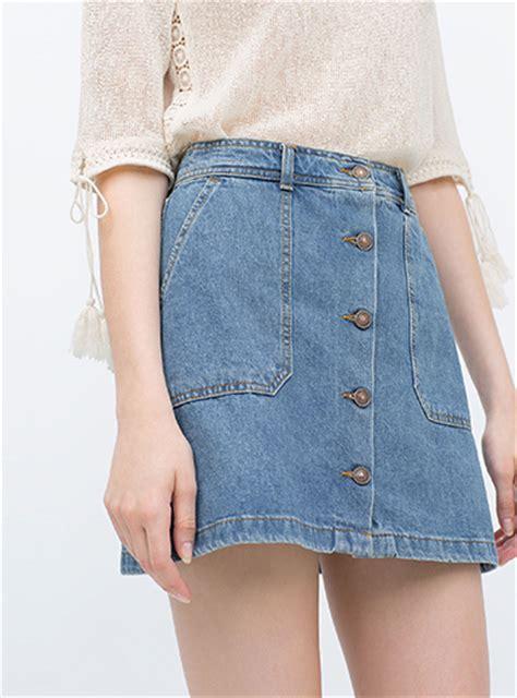 s blue jean skirt denim button front mini