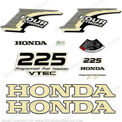 Honda Four Stroke Aufkleber by Marine Decals For Honda Outboard Engines Outboarddecals